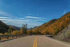 Cabot Trail Highway Imágenes de archivo libres de regalías