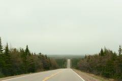 Cabot Trail Highway am bewölkten Tag Lizenzfreie Stockfotografie