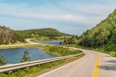 Cabot Trail Highway. (Cape Breton, Nova Scotia, Canada Stock Image