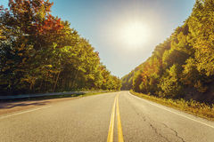 Cabot Trail Highway  in fall Royalty Free Stock Photography