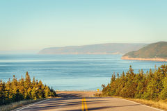 Cabot Trail Highway  in fall Stock Photo