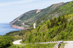 Cabot Trail Highway. Cabot Trail in Nova Scotia sits along the scenic route of this northern Nova Scotia area Royalty Free Stock Photography
