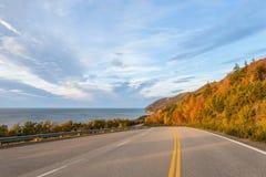 Cabot Trail Highway (uddeBreton, Nova Scotia, Kanada) Royaltyfri Fotografi