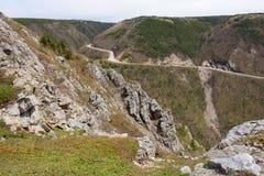 Cabot Trail Highway unter den Klippen Lizenzfreie Stockbilder