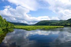 Cabot Trail in Kaap Breton, Nova Scotia royalty-vrije stock foto's