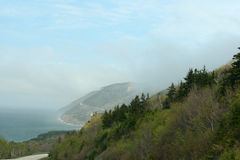 Cabot Trail in Nova Scotia Stockbilder