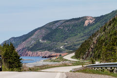 Cape Breton Highway. Cabot Trail in Nova Scotia sits along the scenic route of this Cape Breton, Nova Scotia area Royalty Free Stock Photography