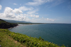 Cabot Trail ocean view Stock Image