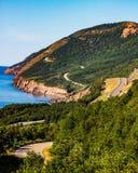 Cabot Trail, punto di vista del bretone del capo Immagine Stock