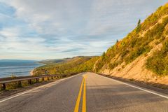 Cabot Trail Scenic sikt Royaltyfria Foton
