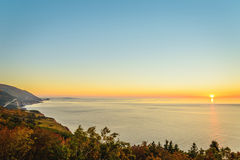 Cabot Trail at sunset Stock Photo