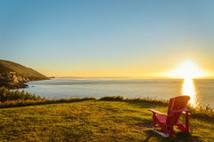 Cabot Trail at sunset. (Cape Breton, Nova Scotia, Canada Stock Photos