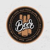 Caboteur pour la bière, bierdeckel, beermat pour la barre, bar, brasserie illustration libre de droits