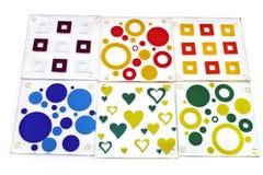 Caboteurs colorés pour le verre Photographie stock libre de droits