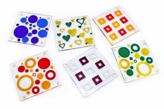 Caboteurs colorés pour le verre Photographie stock