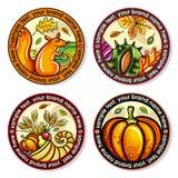 Caboteurs ronds de boissons d'automne illustration de vecteur