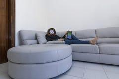 Cabouqueiro com computador Foto de Stock Royalty Free