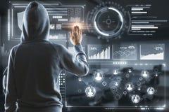 Cabouqueiro no Cyberspace imagens de stock