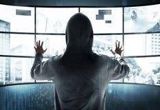 Cabouqueiro que rouba a informação Imagens de Stock