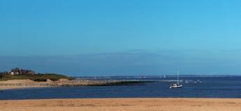 Cabourg kust i Normandie fotografering för bildbyråer