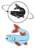 caboz dos peixes ilustração do vetor