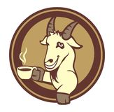 Cabra bebendo Fotografia de Stock Royalty Free