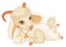 Cabra bonito nova dos desenhos animados Imagens de Stock Royalty Free