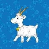 Cabra branca nova ilustração do vetor