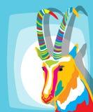 Cabra cobarde stock de ilustración