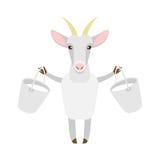 Cabra com leite Imagens de Stock Royalty Free