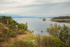 Cabra Corral reservoir Royalty Free Stock Photography