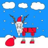Cabra de la Navidad Imagenes de archivo