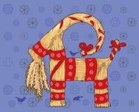 Cabra de Yule Imagen de archivo libre de regalías