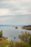 Cabra drijft reservoir bijeen Royalty-vrije Stock Afbeelding