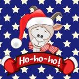 Cabra em um chapéu de Santa Foto de Stock Royalty Free