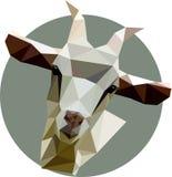 Cabra en un estilo del polígono Ejemplo de la moda de la tendencia en el st ilustración del vector