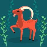 Cabra linda en el bosque ilustración del vector