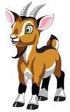 Cabra marrom pequena dos desenhos animados isolada no branco ilustração stock