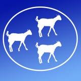 Cabra nacional Logo Background Banner del ganado ilustración del vector