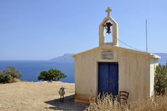 Cabra y capilla Foto de archivo libre de regalías