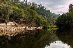 Cabreira flod- strand Arkivfoto
