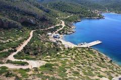 Cabrera Island. Land-marine national park royalty free stock photo
