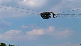 Cabrestante de Waterski con el cable para tirar de los esquíes acuáticos almacen de metraje de vídeo