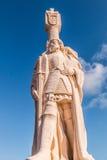 Cabrillo著名探险家国家历史文物雕象  免版税库存图片