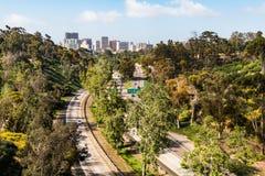 Cabrillo autostrada i śródmieścia San Diego linia horyzontu Zdjęcie Royalty Free