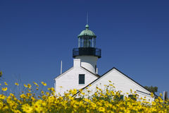 Cabrillo Light House Royalty Free Stock Photo
