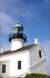 Cabrillo Lighthouse Under a Blue Sky. Cabrillo National Monument Lighthouse (San Diego) under a bright blue sky royalty free stock image