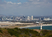 Cabrillo monument and San Diego Stock Photography