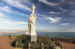 Cabrillo National Monument Statue Point Loma San Diego USA royalty free stock image