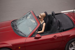 In cabrio Stock Photo